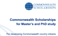 Commonwealth Scholarships for 2019