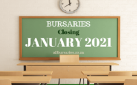 Bursaries Closing in January 2021