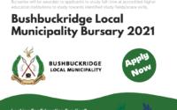Bushbuckridge Local Municipality Bursary 2021