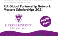 Rhodes University Global Partnership Network Masters Scholarships