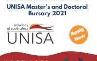 The UNISA Master's and Doctoral Bursary